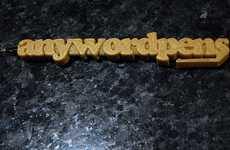 Typographic Writing Tools - Get Custom Office Accessories with 3D Printed Anywordpens