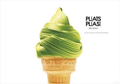 Fabric Food Ads - The Issey Miyake Pleats Please Campaign Depicts Delicious Fashion