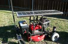 DIY Hybrid Grass Cutters - Daniel Epperson's Custom Lawn Mower is Solar-Powered and Remote Control