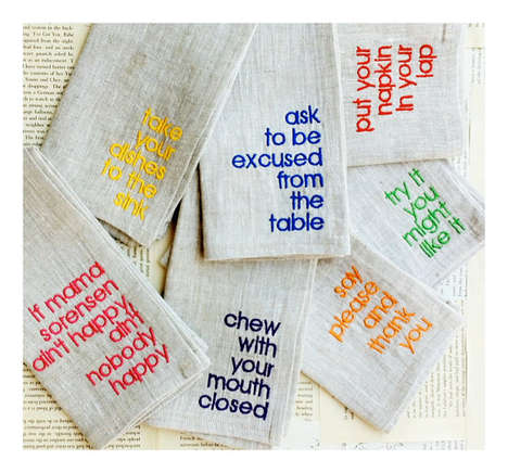 Manner-Minded Napkins
