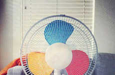 DIY Colorful Fans