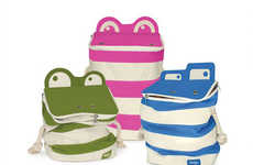 Ribbeting Organization Sacks - Monster Storage Bags by P'kolino Are Created to Be Fun and Functional