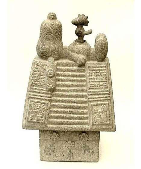 Ancient Cartoon Character Artifacts