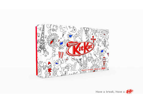 Sketched City Wrappers - Kit Kat Cities Packaging Features Doodles of Three Marvellous Metropolises