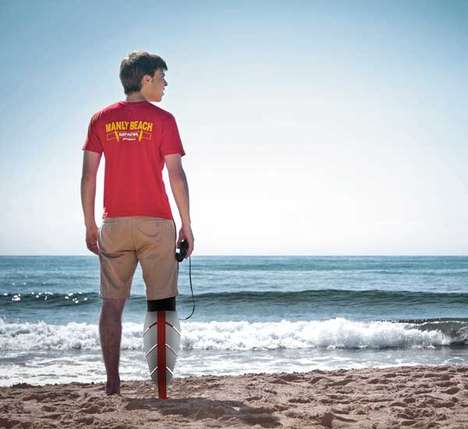 Aquatic Leg Prosthesis - The Murr-Ma Amphibious Prosthetic Makes Beach Activities Easier