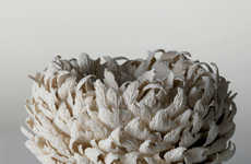 Feathered Foliage Vases - These Elaborate Vases by Hitomi Hosono Take Seven Months to Make