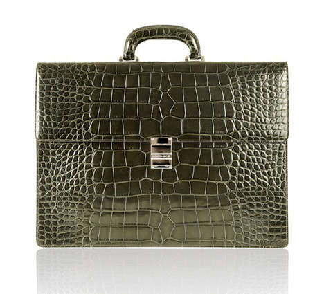 Montblanc Introduces a Reptilian Tote Bag with a Diamond Clasp