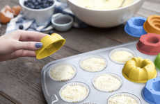 Embellishing Muffin Molds - Quirky Bake Shapes Initiate Cupcake Decoration in the Batter Stage