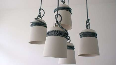 Tightly Wound Pendant Lamps
