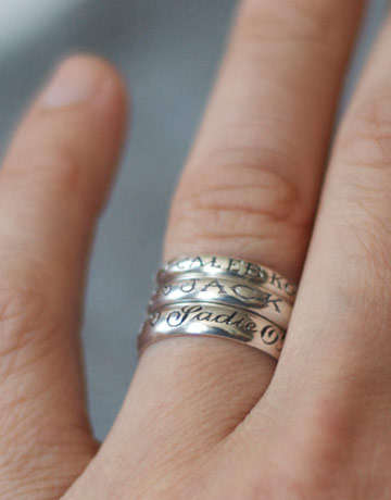 Baby Name Rings - These Rings Make the Perfect Gift for Mother's Day New Moms