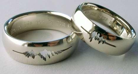 Sound Wave Wedding Rings
