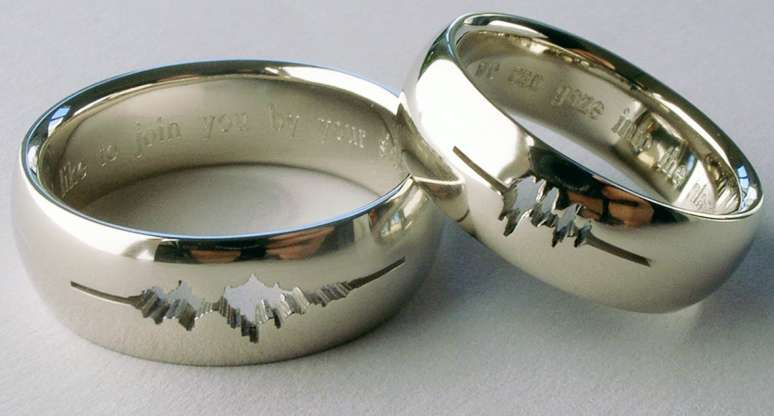 Sound Wave Wedding Rings