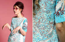 Elegantly Embellished Catalogs - The Maia Bergman Spring Collection is Sequin Clad