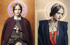 Christian Iconography Editorials - The Way of Bizantinum Vogue Italia Fashion Story is Symbolic