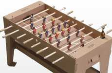 Recyclable Ball Games - The Kartoni Foosball Table is Made of Cardboard and Packs Flat for Transport
