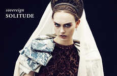 Modern-Day Medieval Fashion - The Odalisque Magazine 'Sovereign Solitude' Editorial Stars Robin