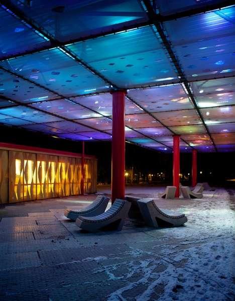 Paneled Outdoor Light Installations