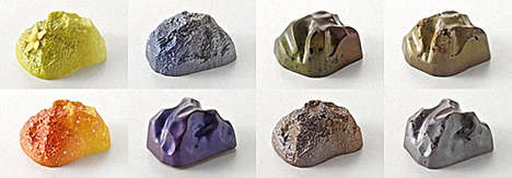 White Rabbit Chocolate Creates Chocolate that Looks Like Space Rocks