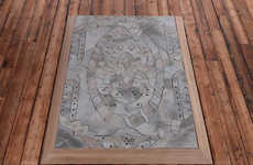 Intricate Cement Carpets - The Concrete Rug by Alex Chinneck is Inspired by Oriental Designs