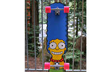 Cartoon Skateboards - The New Simpsons Skateboards by Santa Cruz are a Blast from the Past