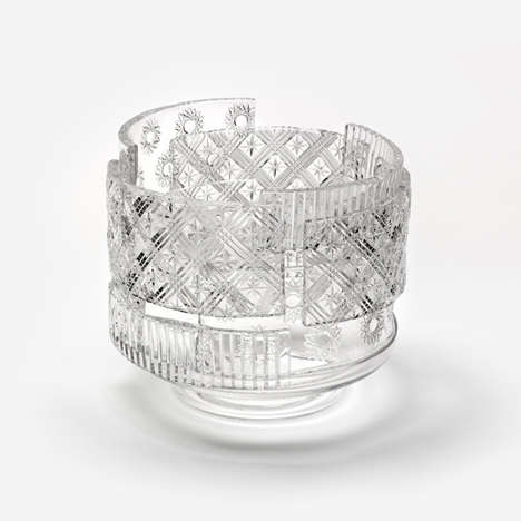 Artistically Layered Glass Vases