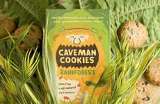 Bearded Biscuit Branding (UPDATE) - Caveman Cookies Packaging Got a Grooming by Kristina Filler