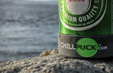 Ice-Cold Beer Coasters - The Chill Puck Beverage Cooler Keeps Drinks Nice and Chilly