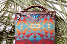Geometrically Rustic Leather Bags - Arc of a Diver's Handbags Feature Heavy Tribal Influences