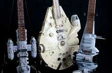 Geeky Sci-Fi-Mimicked Guitars - Tom Bingham's Star Wars Instruments are Ideal for Jedi Rock Stars