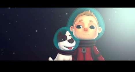 Astronaut Puppy Animations