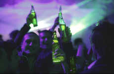 Glow-in-the-Dark Lager Labels - The Interactive Heineken Beer Bottle Illuminates When People Cheers
