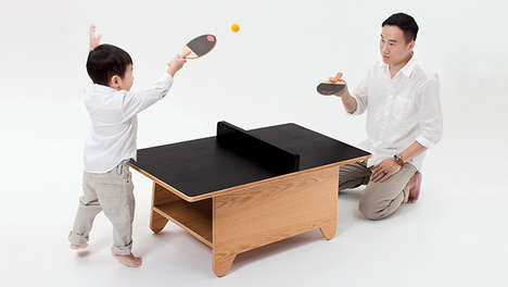 Tiny Table Tennis - The Ping Pong by Huzi Design is a Playful and Flexible Surface for All