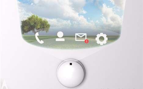 Wall-Cast Smartphone Screens