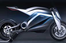 Sharp Futuristic Motorcycles - The Audi Motorrad Concept Re-Imagines Traditional Designs