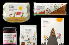 Sweetly Illustrated Branding - ICA Gott Liv Packaging Illustrates What Makes a Healthy Lifestyle