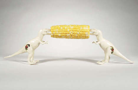 These Quirky Corn Skewers Designed by Lana Filoppone Resemble Dinosaurs