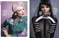 Generational Beauty Editorials - The Then & Now Vogue China Beauty Feature Revisits History