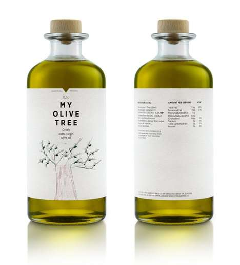 Minimalist Gourmet Branding - The My Olive Tree Product Packaging Modernizes Tradition