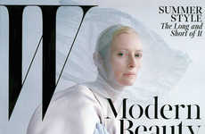 Conceptual Screen Star Captures - The Tilda Swinton W Magazine Cover Story is Artfully Avant-Garde