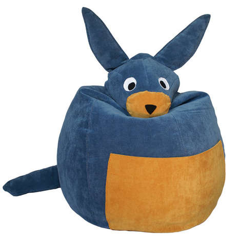 Cushiony Critter Seating - These Funny Animal Bean Bag Chair Designs are Playful & Safari-Inspired