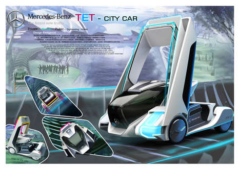 Reconfigurable Compact Cars - The TET City Car Adapts to Serve a Variety of Very Different Purposes