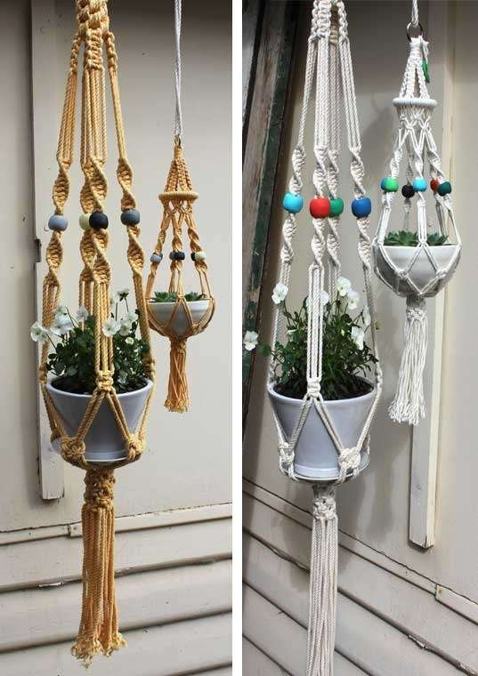 Suspended Crochet Planters