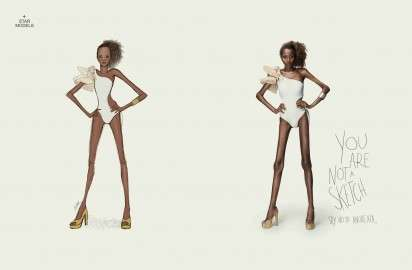 "Unrealistic Anorexia Ads - The Star Models Campaign Tells Women They ""Are Not a Sketch"""