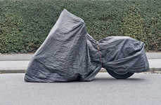 Cloaked Chopper Snapshots  - Christian Werner Portrays Motorcycle Covers as Street Sculptures