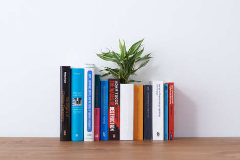 Hollow Book Planters - The YOY Design Studio Has Created This Modern Book Planter