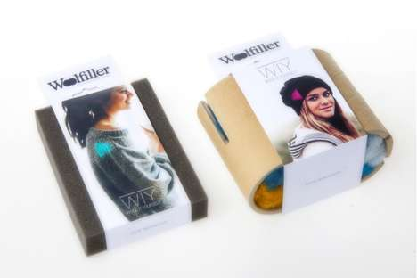 Recycled Cylindrical Wrappers - Woolfiller Packaging Reuses Card for Consistency with Brand Values