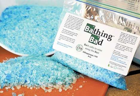 TV Series-Inspired Toiletries - Firebox's Blue Bath Salts Mimic the Crystal Meth from Breaking