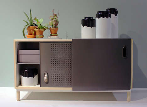 Perforated Storage Furniture