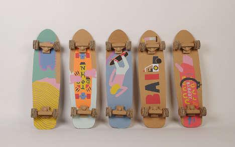 Crafty Cardboard Skateboards