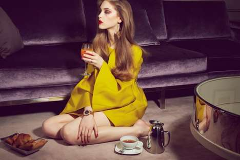 Playfully Decadent Photoshoots - The Please Magazine 'Golden Touch' Editorial is Elegant and Fun